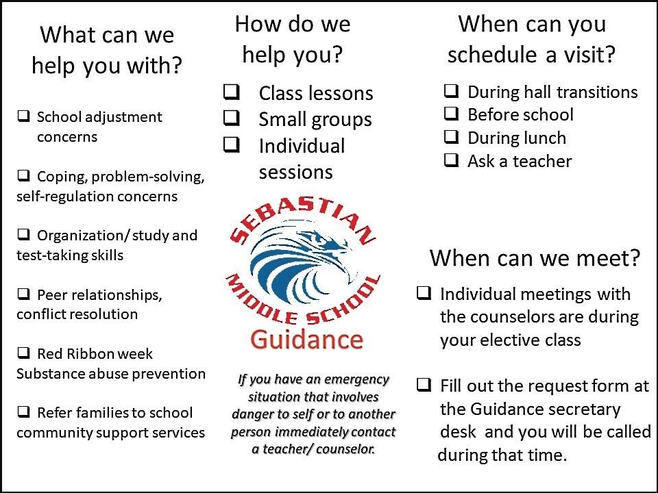 Guidance Sebastian Middle School