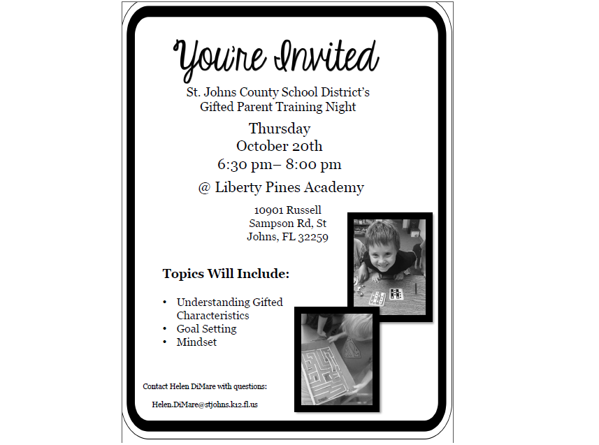 Gifted Parent Training Night